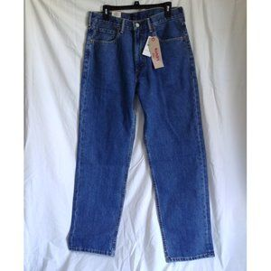 Levi's 550 Mens Relaxed Fit Blue Jeans W34 L32 NWT